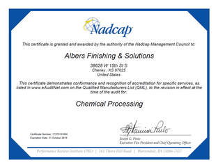 Nadcap Aerospace Quality System Certificate